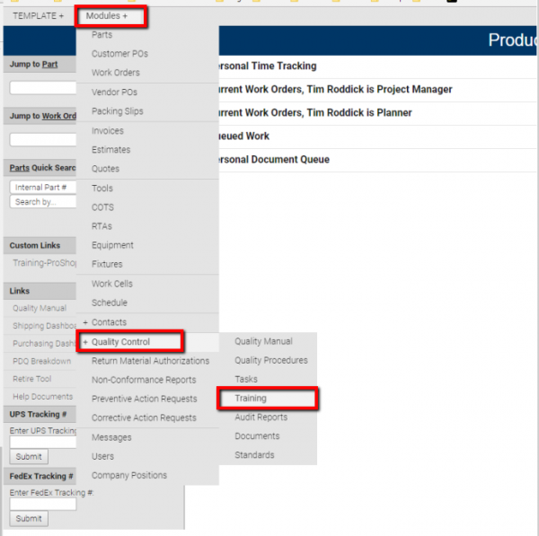 TIME TRACKING to a WORK ORDER - FINDING RELEVANT TRAINING ...